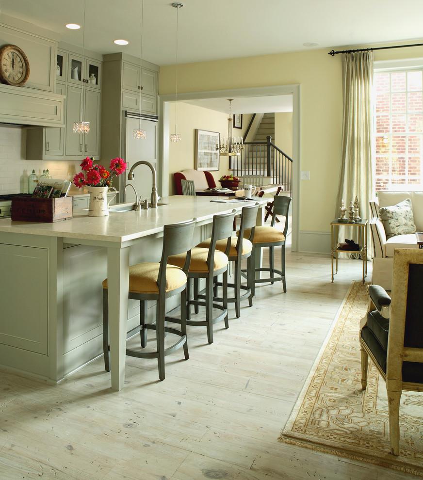 Восхитительный дизайн интерьера кухни в светло-зелёной гамме