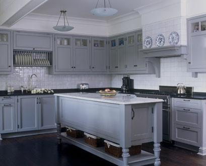 Серый кухонный остров