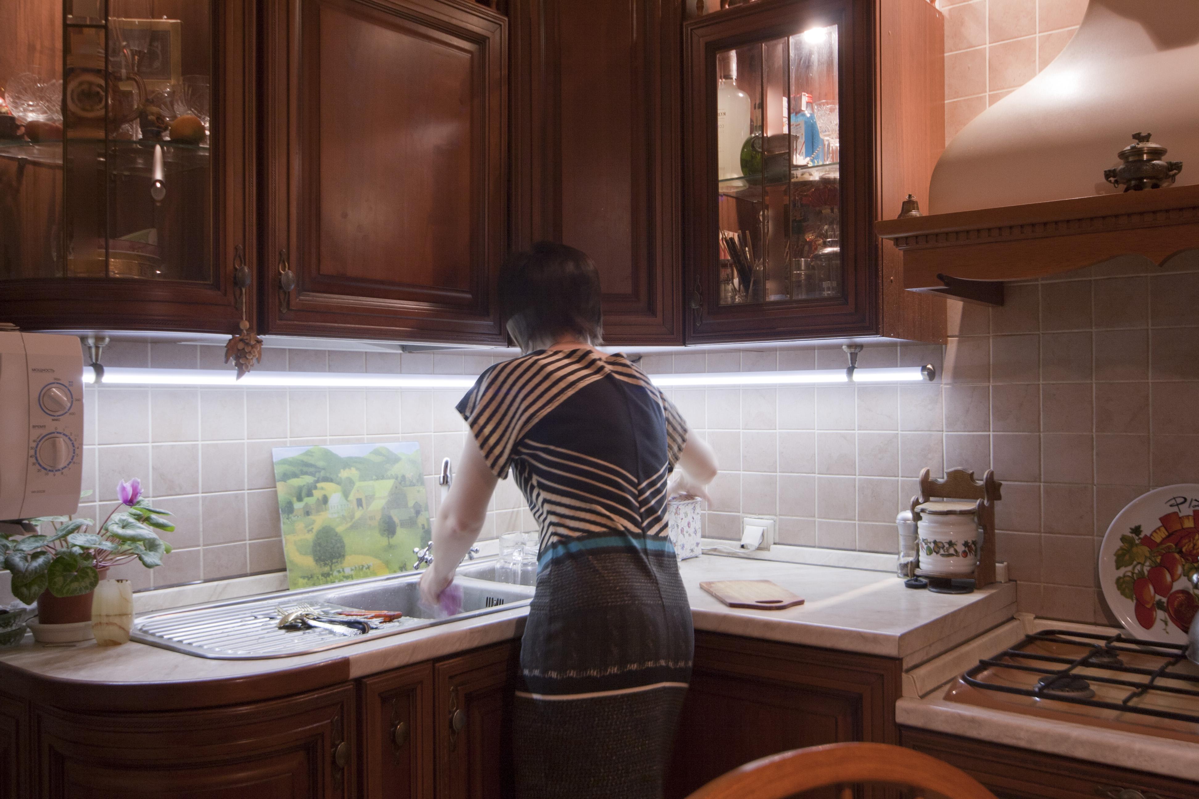 Светодиодное освещение кухонной рабочей зоны