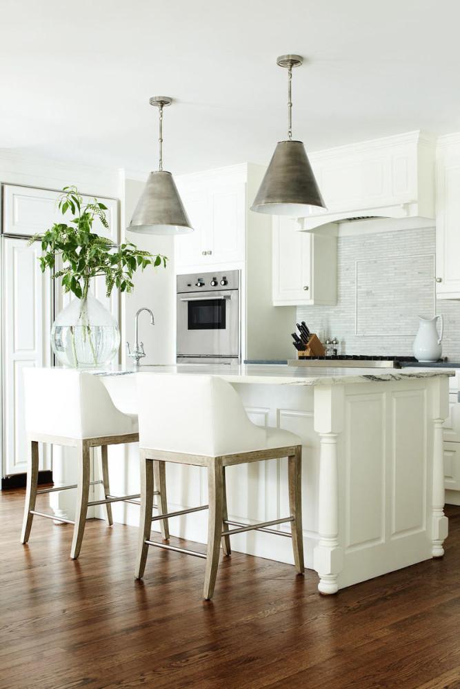 Оформление кухонного острова в винтажном стиле