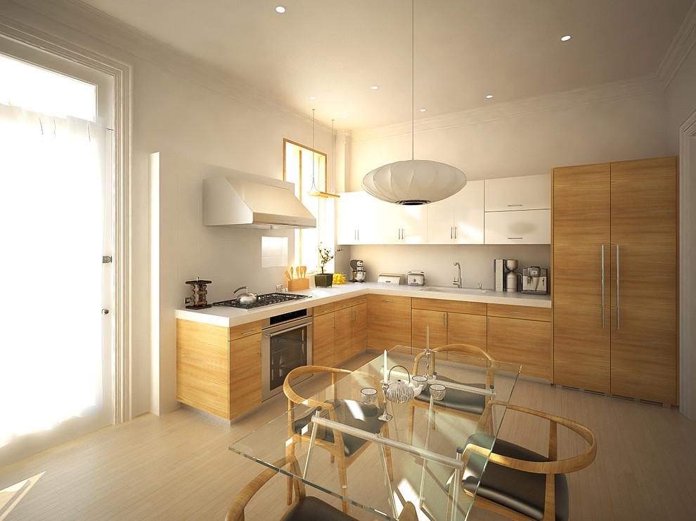 Оригинальный дизайн интерьера кухни из натурального дерева от Murdock Solon Architects