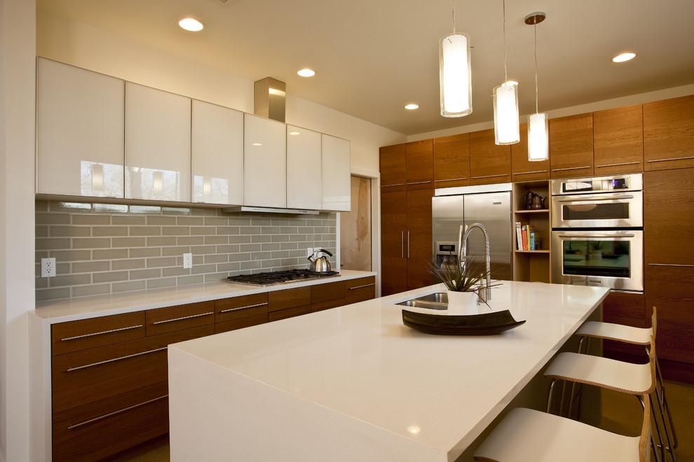 Оригинальный дизайн интерьера кухни от Don Harris, Architect
