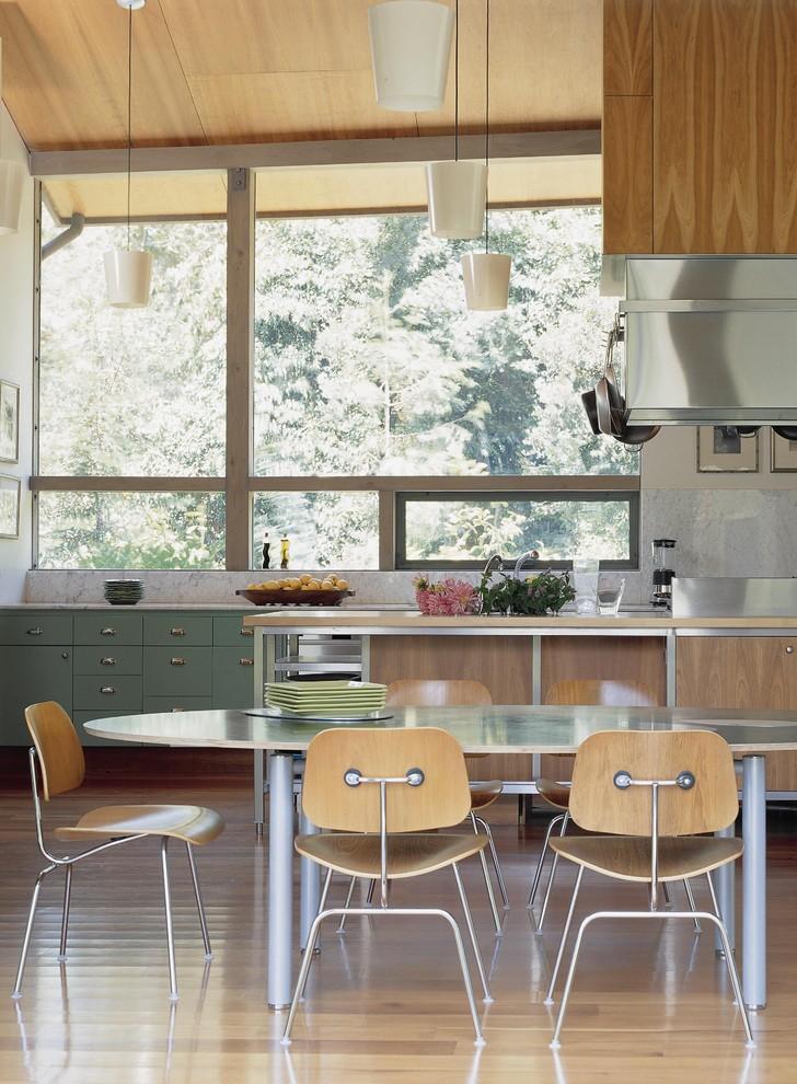 Оригинальный дизайн интерьера кухни от