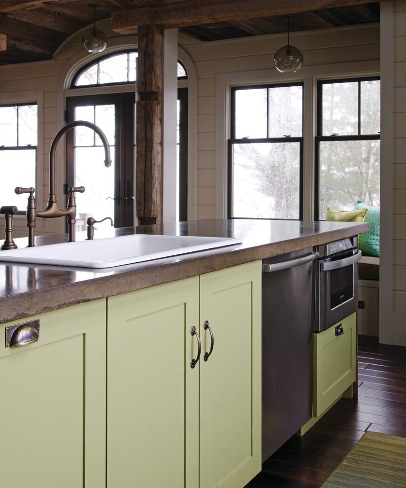 Современный дизайн кухонной раковины от OLSON LEWIS + Architects