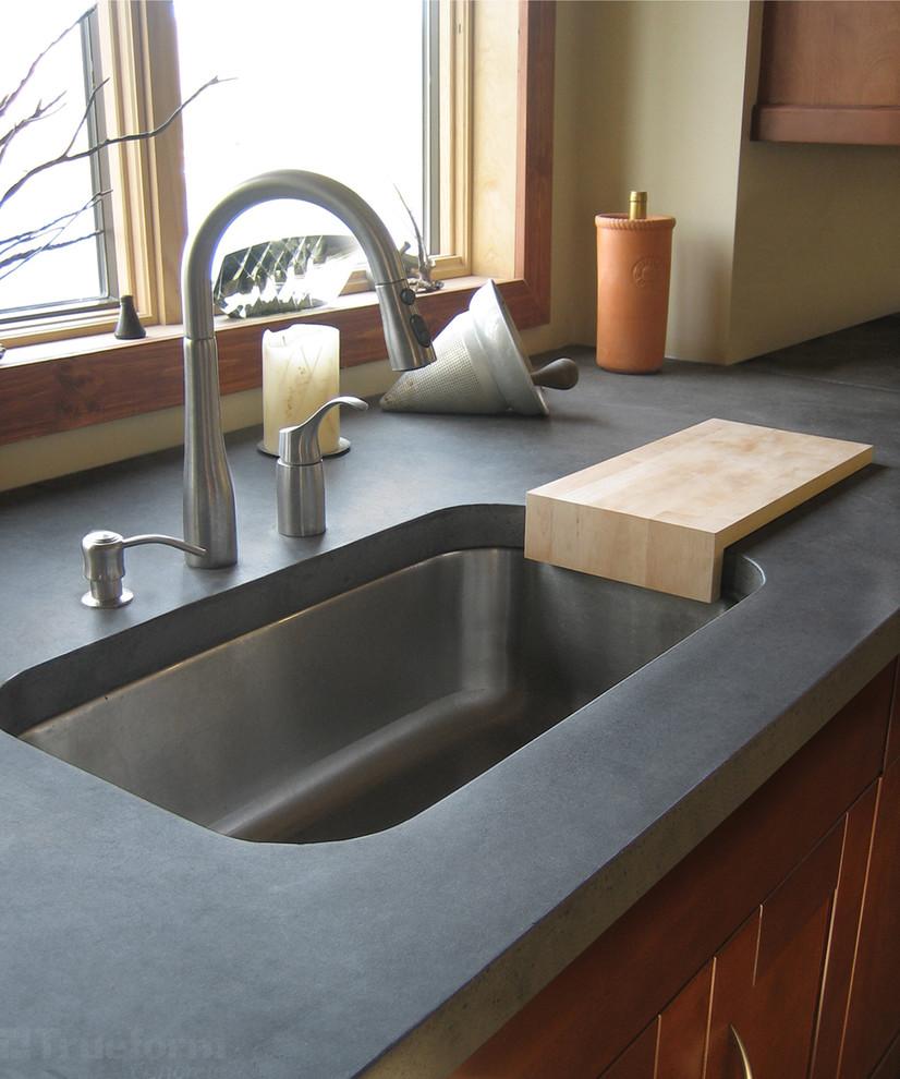 Современный дизайн кухонной раковины от Trueform Concrete