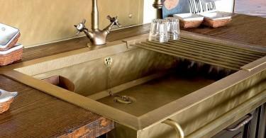 Дизайн медной раковины, стилизованной под старину от студии Restart