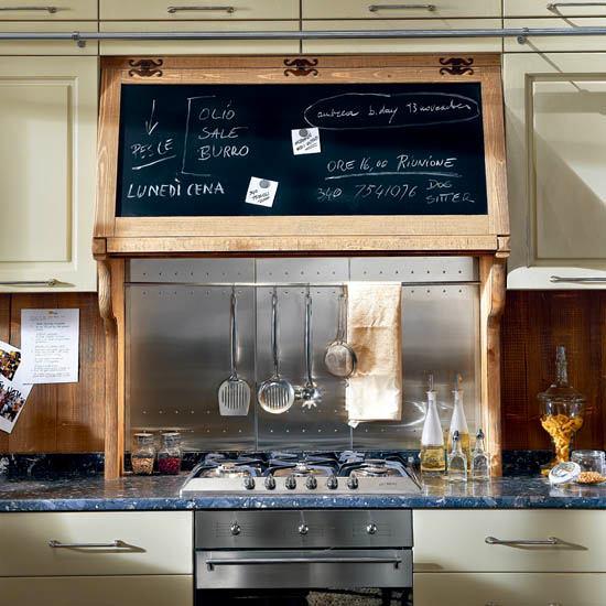Классная доска над кухонной плитой