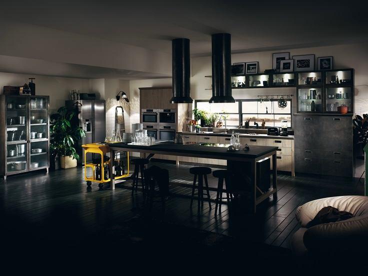 Приглушенный свет на кухне