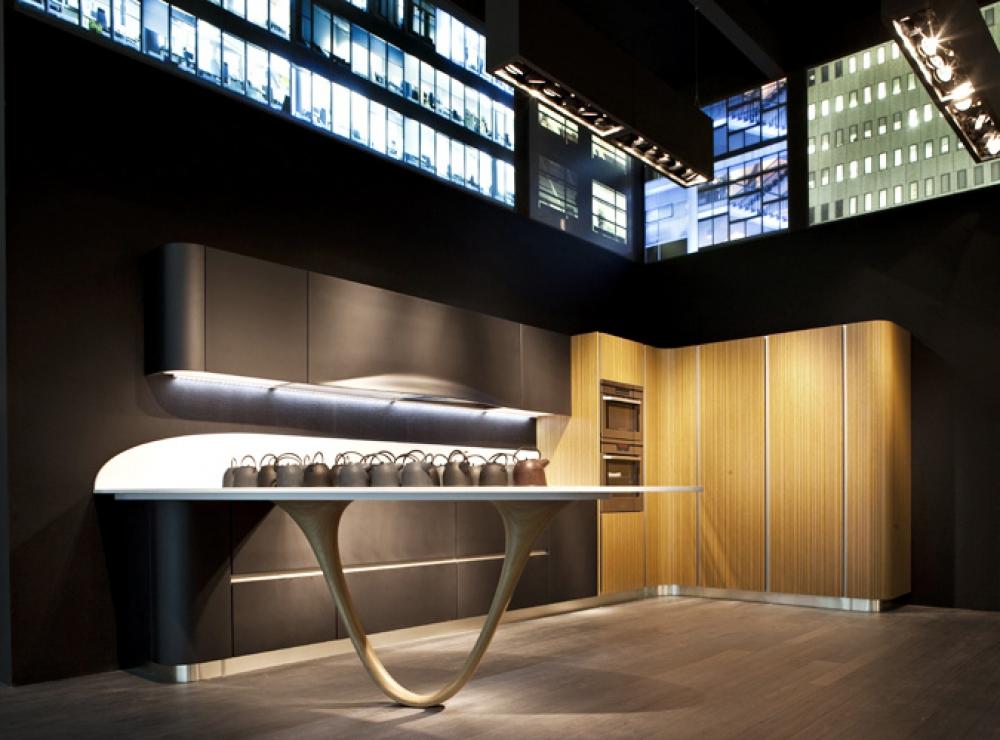 Необычный дизайн кухни Ola 20 от Snaidero в белой гамме
