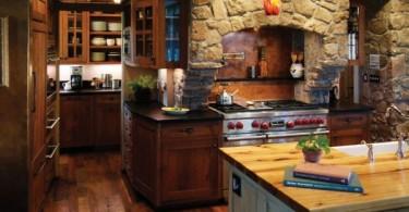 Натуральный камень в стильном дизайне интерьера кухни