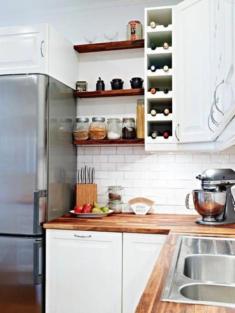 Системы хранения для кухни - белые навесные шкафы