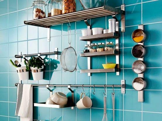 Системы хранения для кухни - навесные полки из металла
