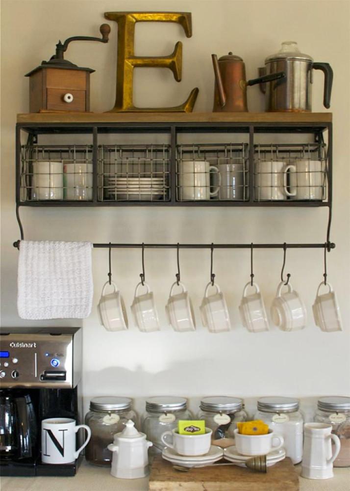 Системы хранения для кухни - штанга с крючками для чашек