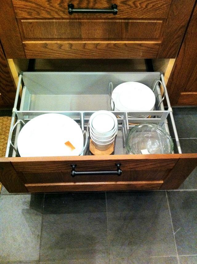 Системы хранения для кухни - выдвижной ящик для посуды