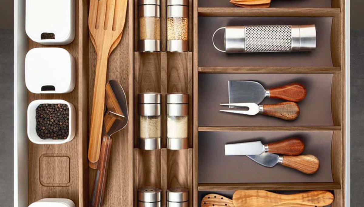Системы хранения для кухни - кухонная мелочь в ящике