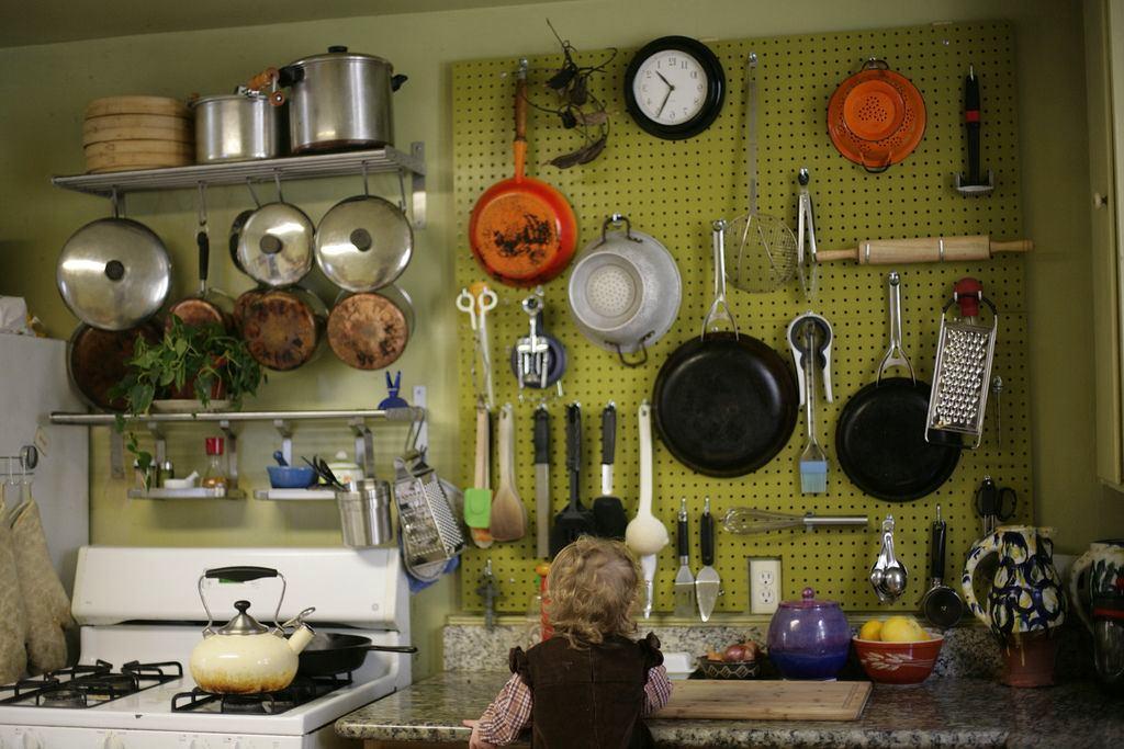 Системы хранения для кухни - стеновая панель