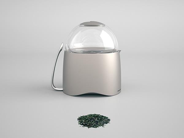 Серый чайник для заваривания чая
