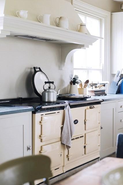 Мебель белого цвета на кухне
