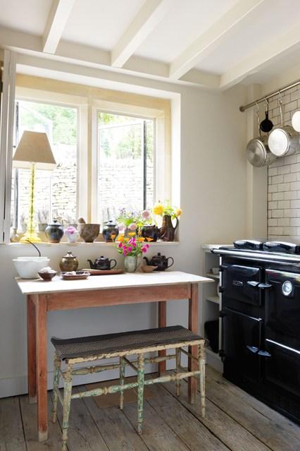 Мебель в ретро стиле на кухне
