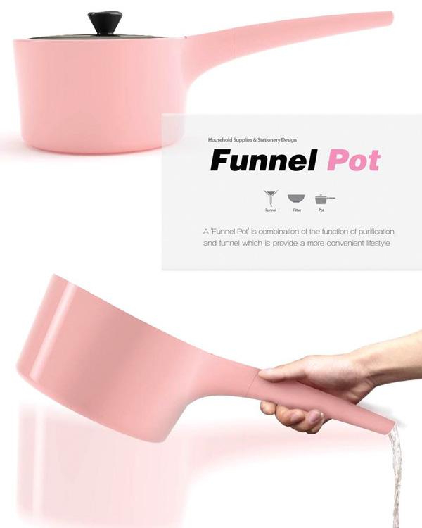 Приспособление для кухни: розовый сотейник от Bosoon Kang