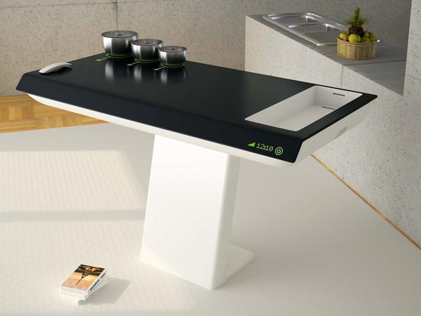 Черно-белая кухонная плита