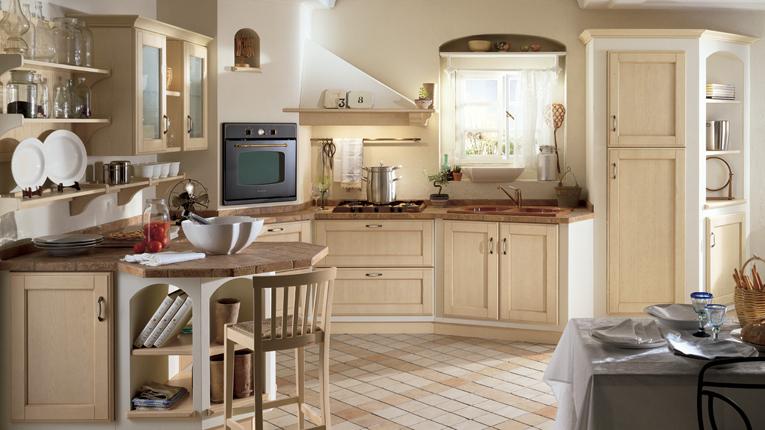 Белый цвет стен на кухне