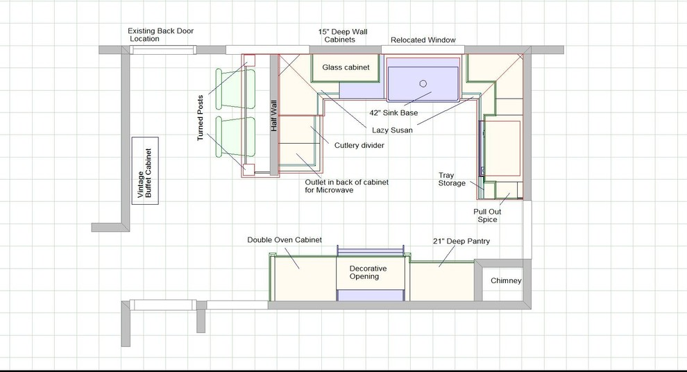 План кухни после ремонта