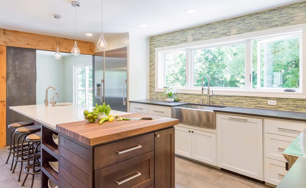 Увеличенное окно на кухне