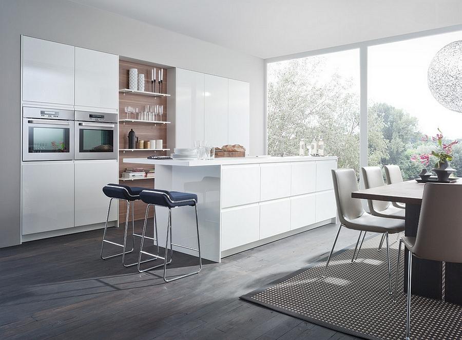 Роскошный дизайн минималистской кухни Kanto от Leicht