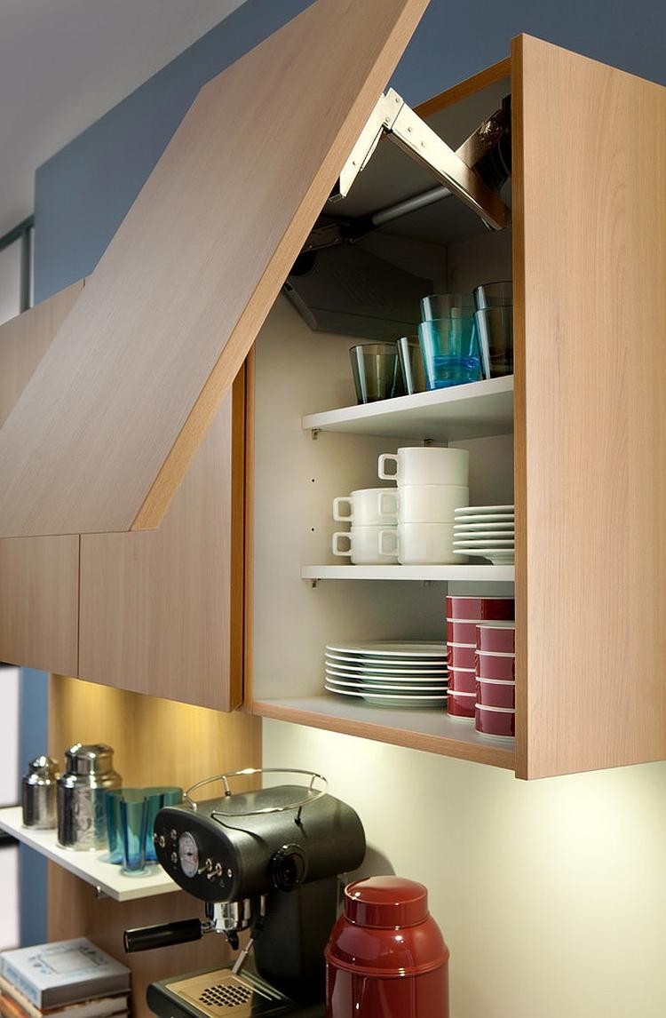 Креативная тумба для хранения посуды