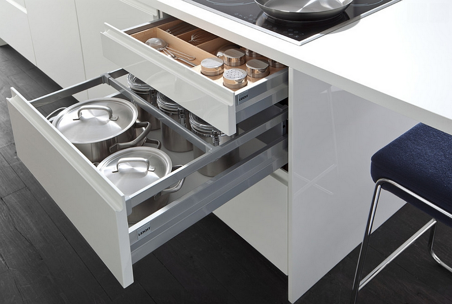 Выдвижной ящик для хранения кухонной утвари