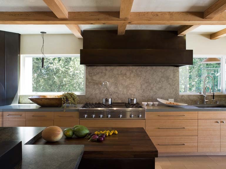 Dark modern country kitchen