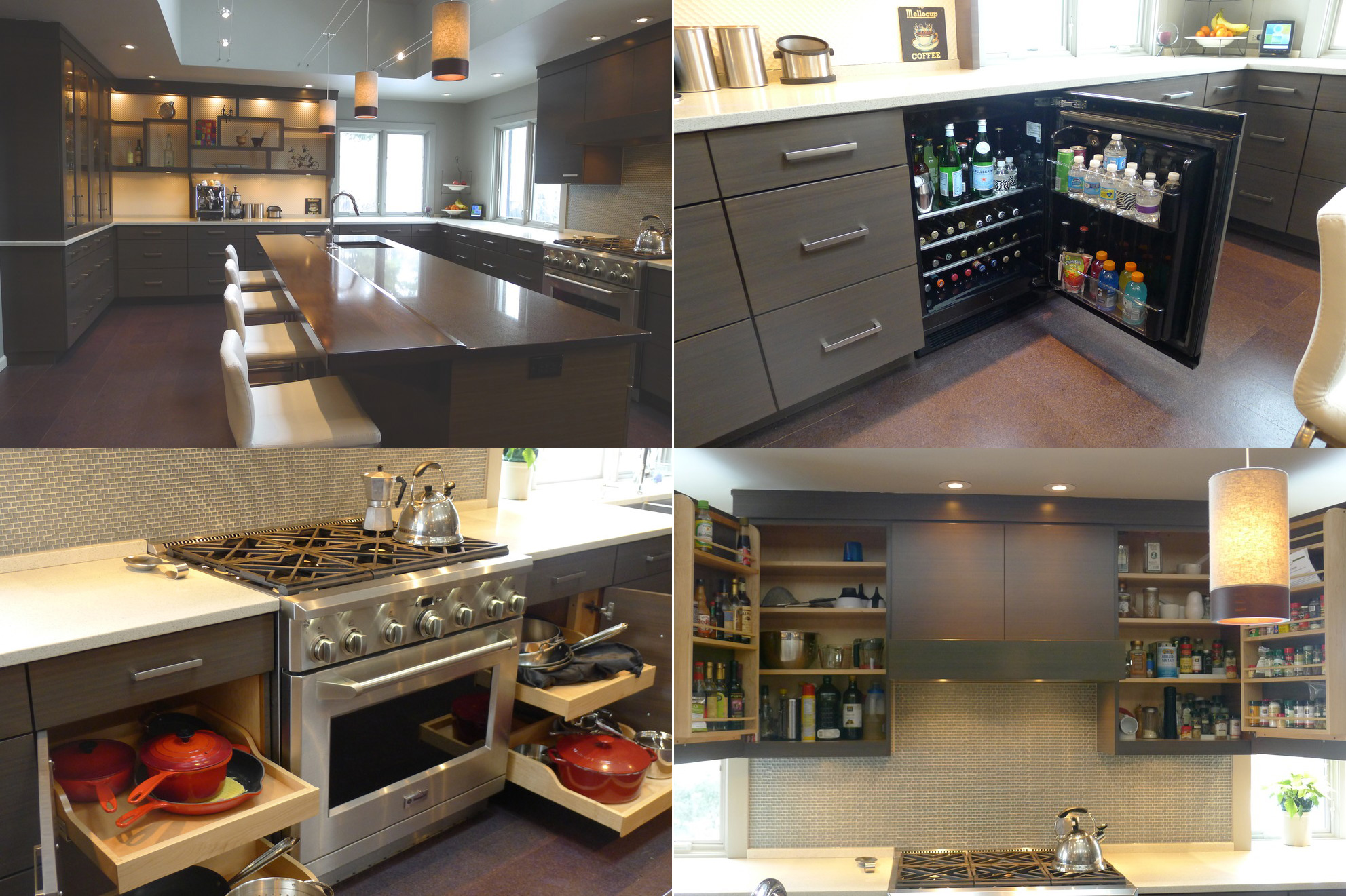 Мебель из бамбука для просторной кухни