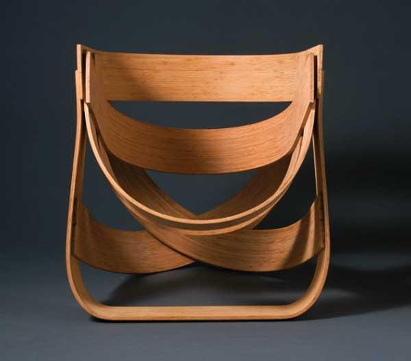 Необычный дизайн бамбукового стула Bamboestoel