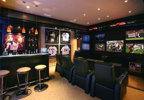 Тематический спортивный домашний бар
