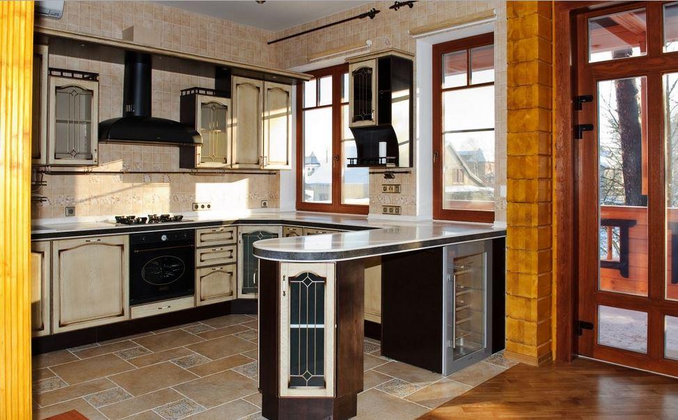 Фото кухни со стойкой от окна