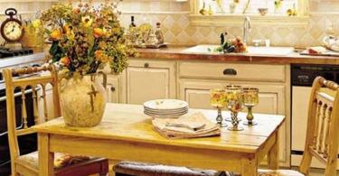 Дизайн интерьера кухни в стиле бистро