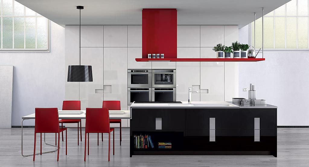 Красно-чёрная кухня