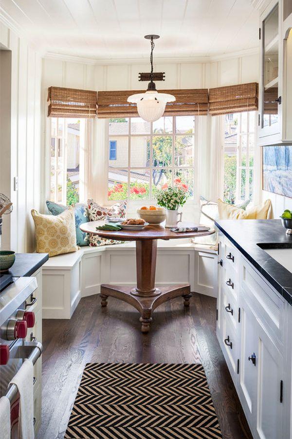 Оформление уголка для завтрака в интерьере кухни