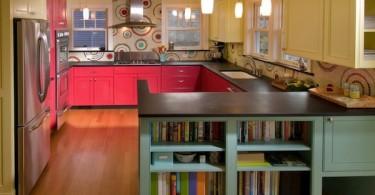 Яркий дизайн интерьера кухни