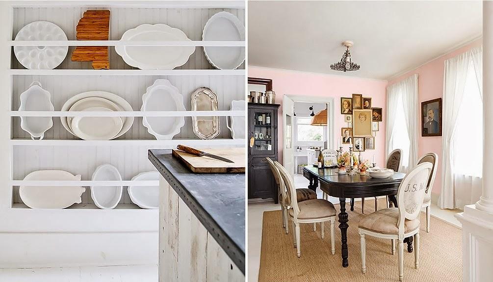 Фотоколлаж: винтажная мебель в интерьере кухни