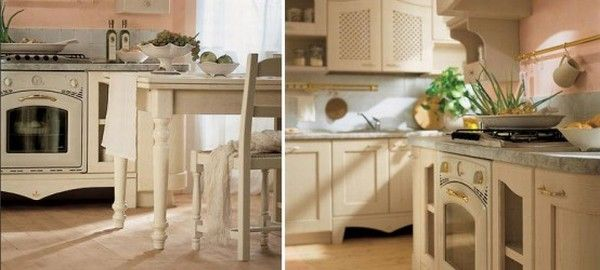 Фотоколлаж: детали интерьера кухни Ducale от Arrital Cucine в стиле прованс