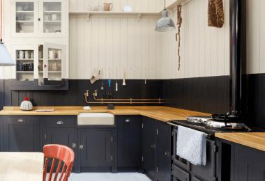 Черный цвет в дизайне кухни: оригинально