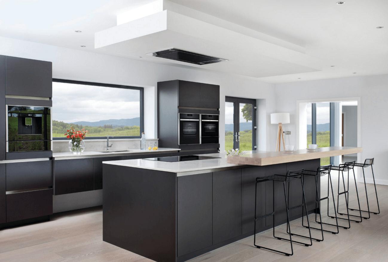 Чёрный цвет в дизайне кухни - фото 2