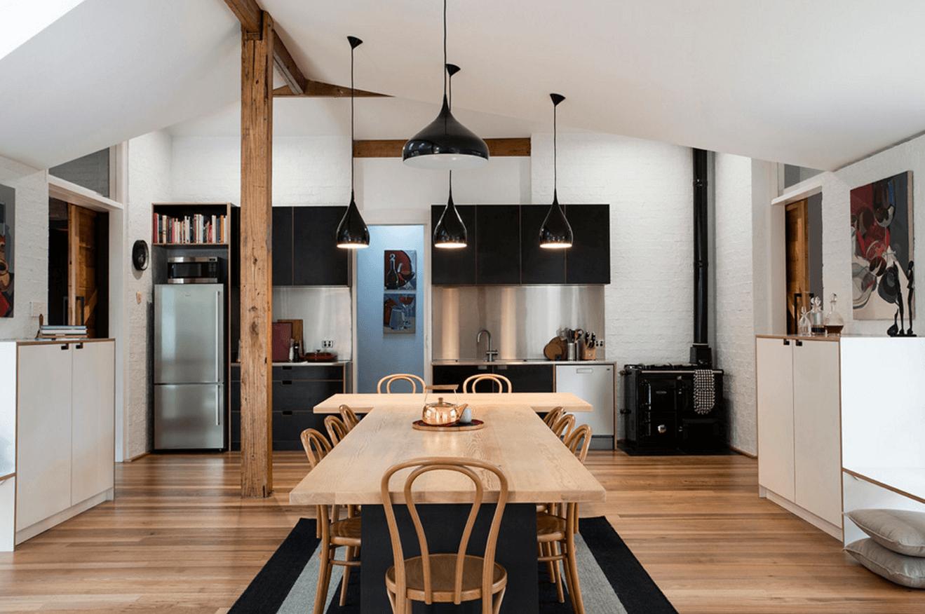 Чёрный цвет в дизайне кухни - фото 3