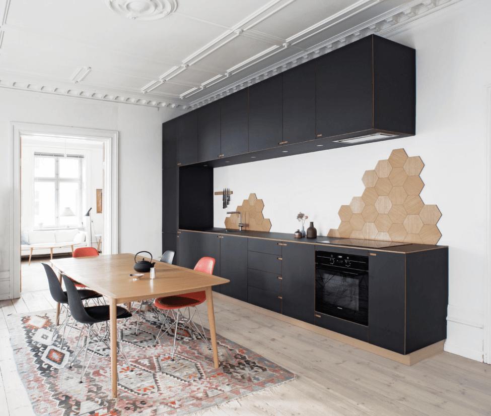 Чёрный цвет в дизайне кухни - фото 5