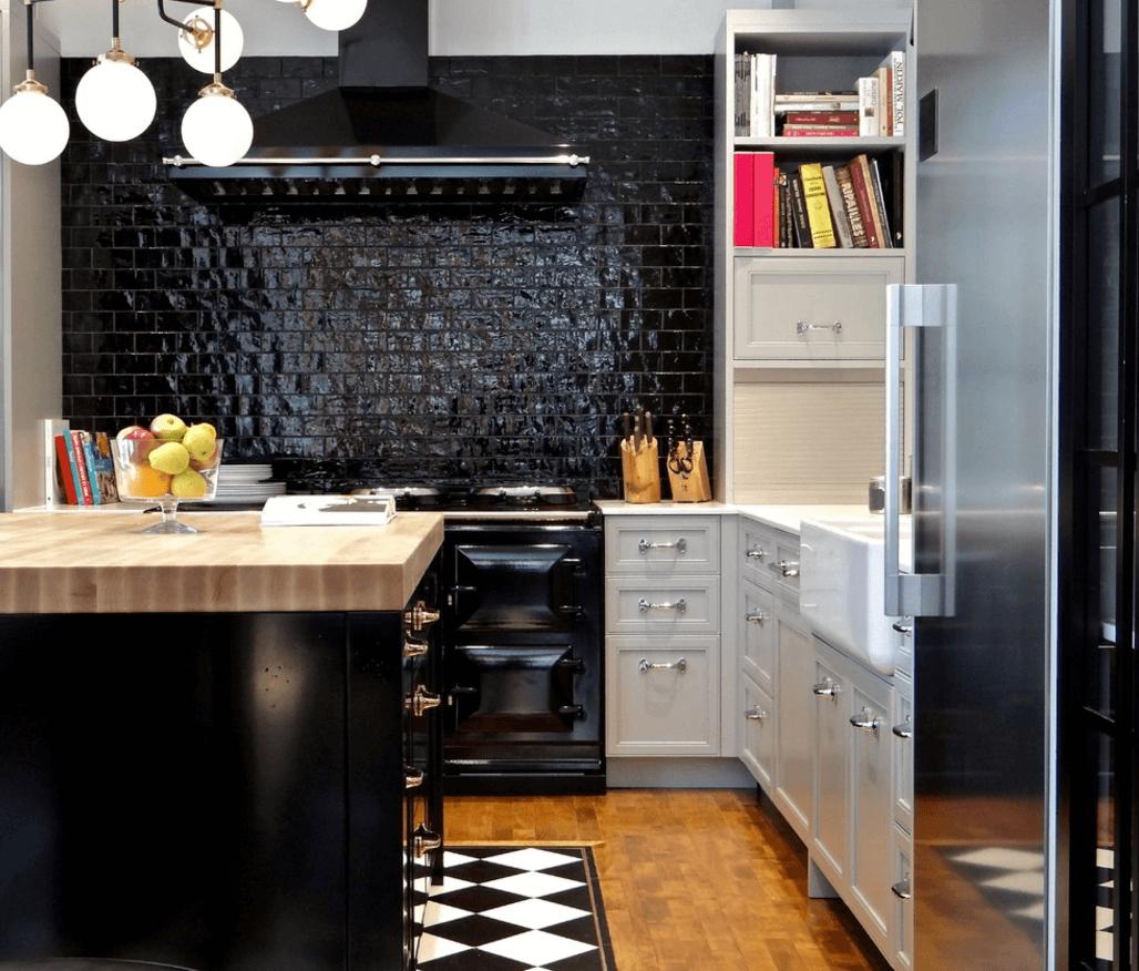 Чёрный цвет в дизайне кухни - фото 7