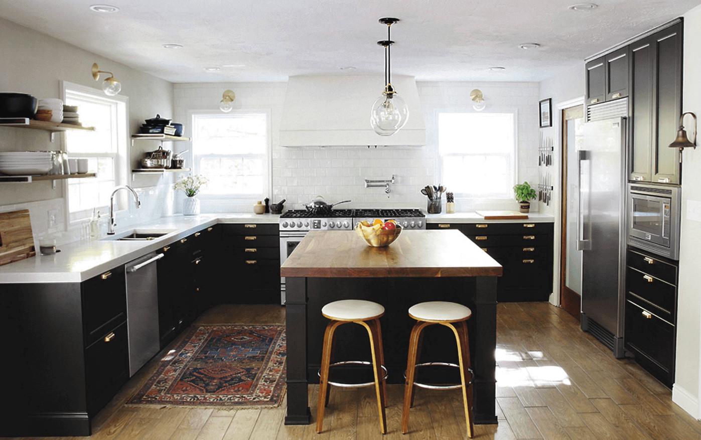 Чёрный цвет в дизайне кухни - фото 8