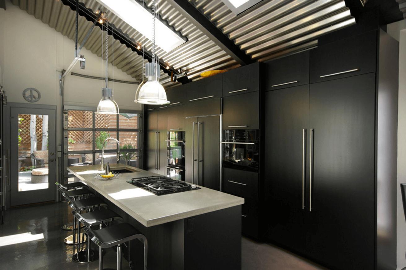 Чёрный цвет в дизайне кухни - фото 9