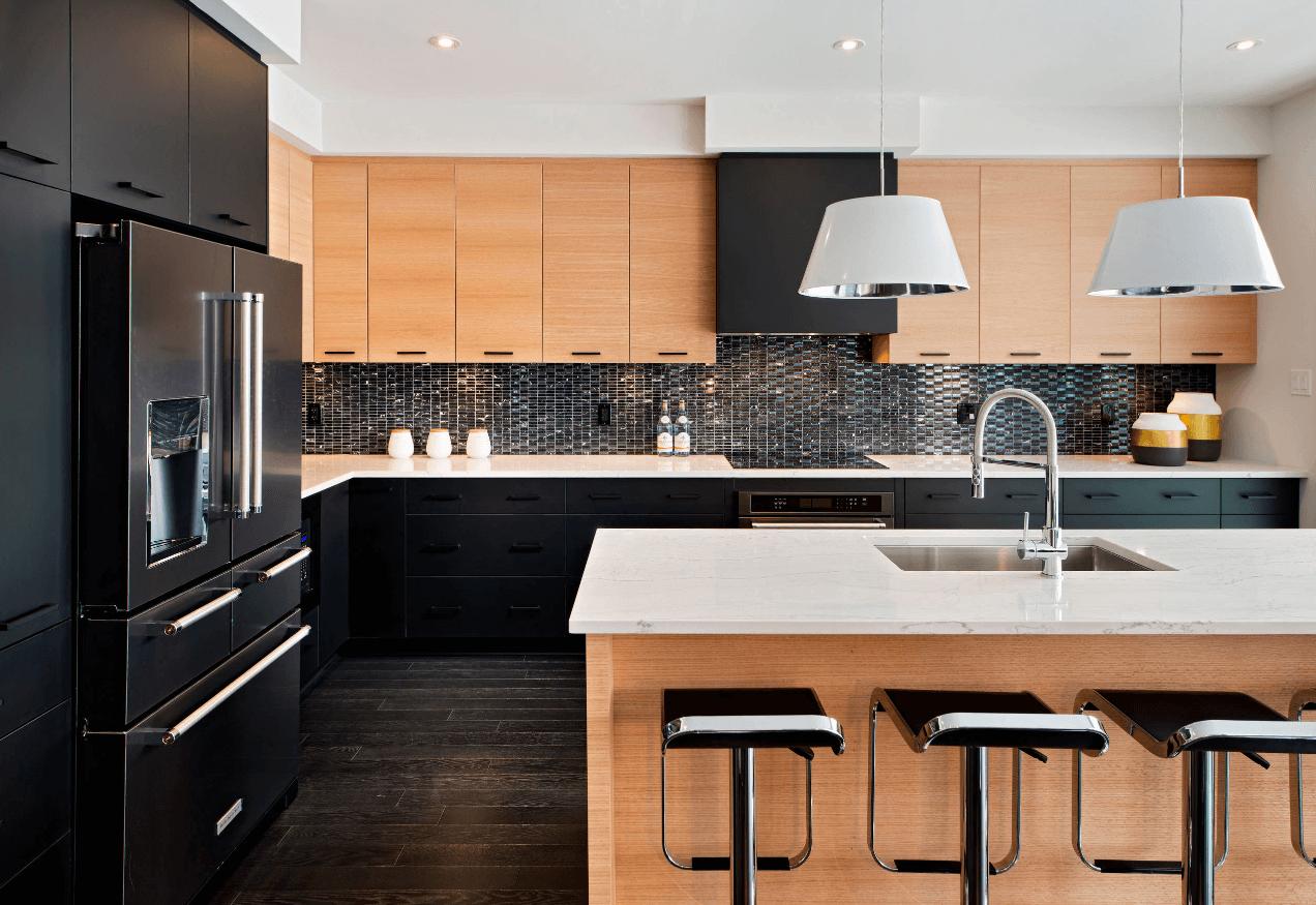 Чёрный цвет в дизайне кухни - фото 11